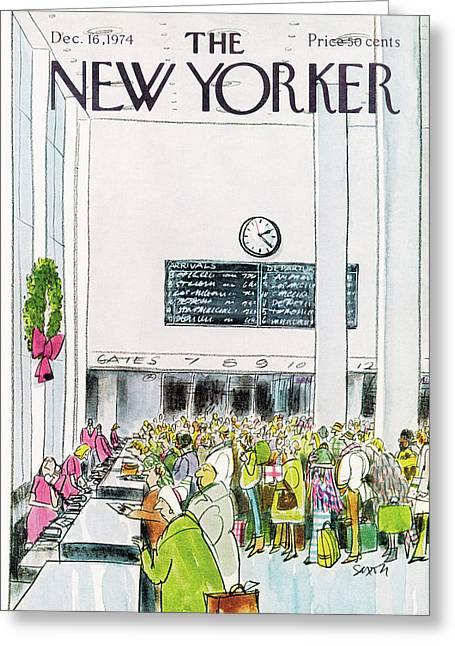 New Yorker December 16th, 1974 Greeting Card