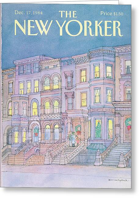 New Yorker December 17th, 1984 Greeting Card