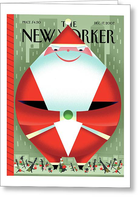 New Yorker December 17th, 2007 Greeting Card