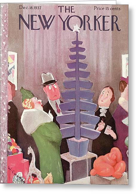 New Yorker December 18th, 1937 Greeting Card