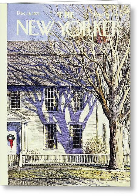 New Yorker December 18th 1971 Greeting Card