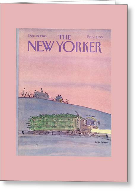 New Yorker December 19th, 1983 Greeting Card by James Stevenson