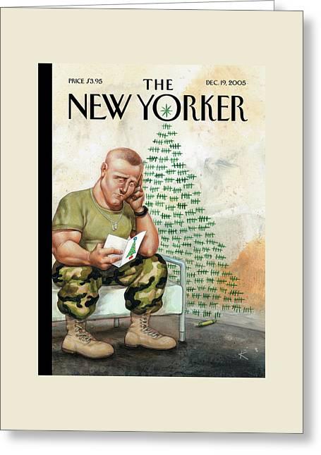 New Yorker December 19th, 2005 Greeting Card by Anita Kunz