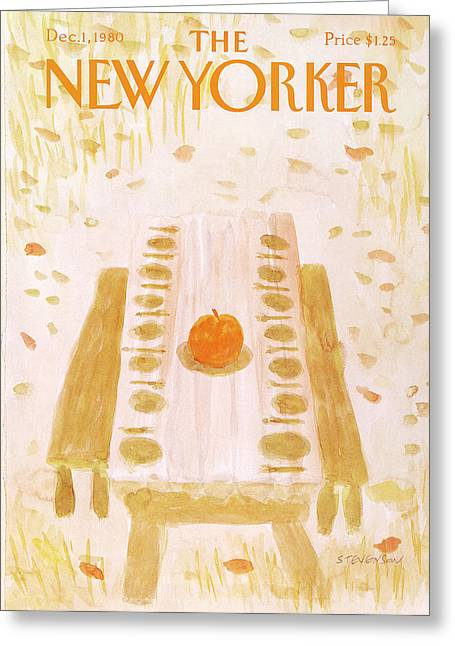 New Yorker December 1st, 1980 Greeting Card