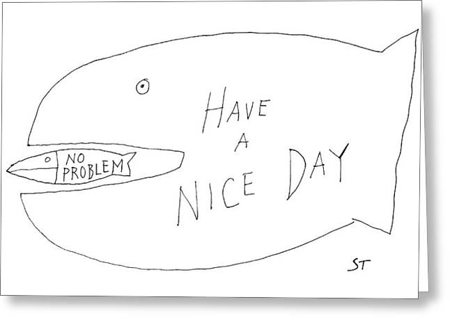 New Yorker December 1st, 1986 Greeting Card by Saul Steinberg