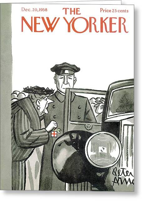 New Yorker December 20th, 1958 Greeting Card