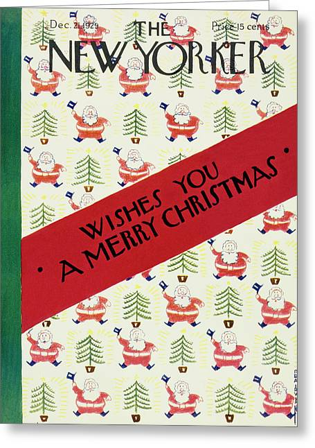 New Yorker December 21 1929 Greeting Card