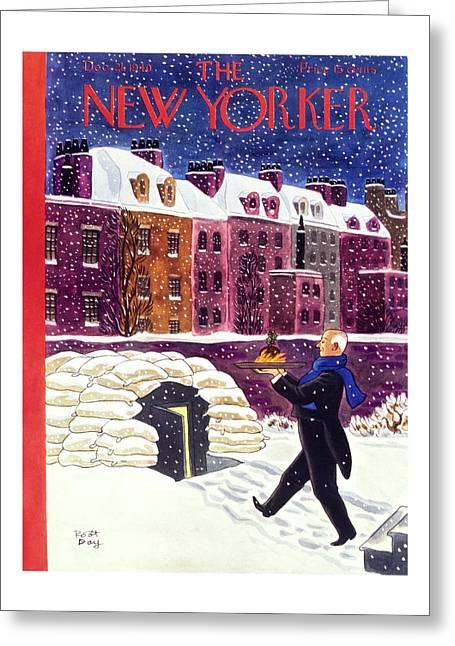 New Yorker December 21 1940 Greeting Card