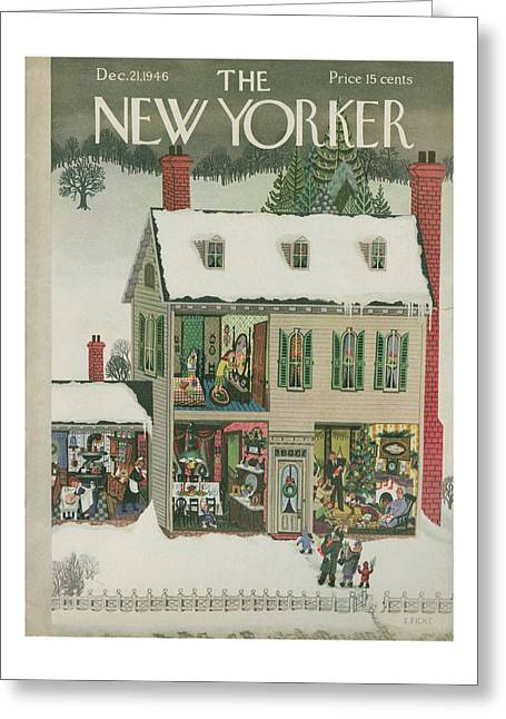 New Yorker December 21st, 1946 Greeting Card