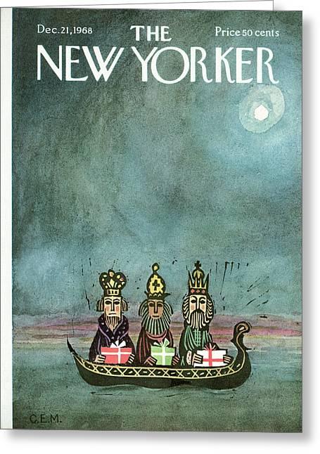 New Yorker December 21st, 1968 Greeting Card