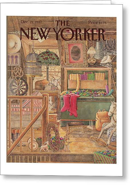 New Yorker December 21st, 1987 Greeting Card