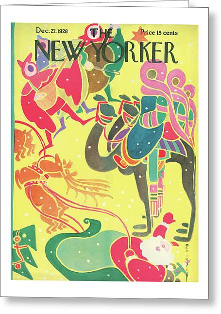 New Yorker December 22nd, 1928 Greeting Card