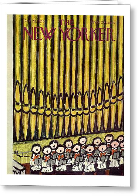 New Yorker December 22nd, 1956 Greeting Card