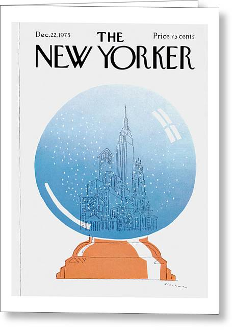 New Yorker December 22nd, 1975 Greeting Card