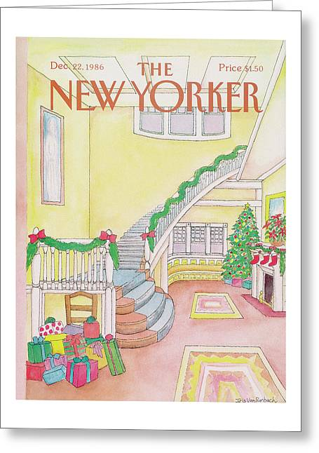 New Yorker December 22nd, 1986 Greeting Card