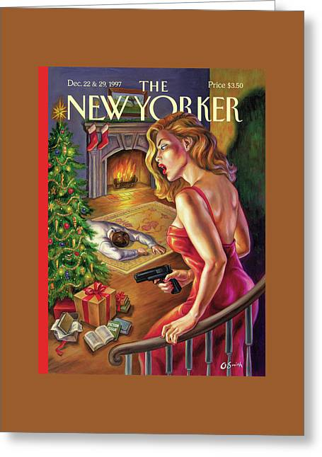 New Yorker December 22nd, 1997 Greeting Card by Owen Smith