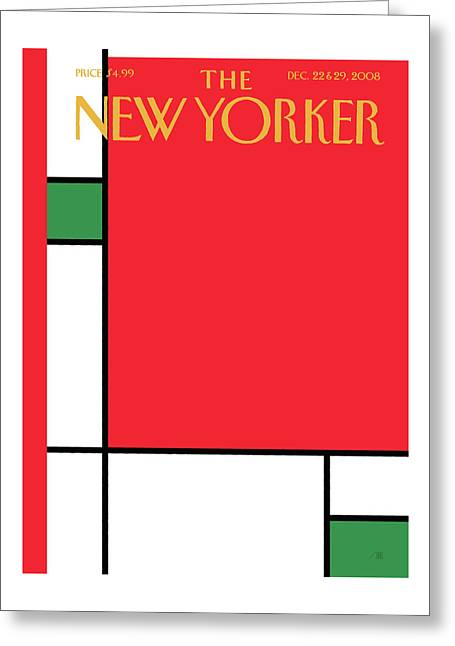 New Yorker December 22nd, 2008 Greeting Card