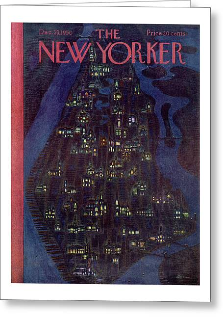 New Yorker December 23, 1950 Greeting Card