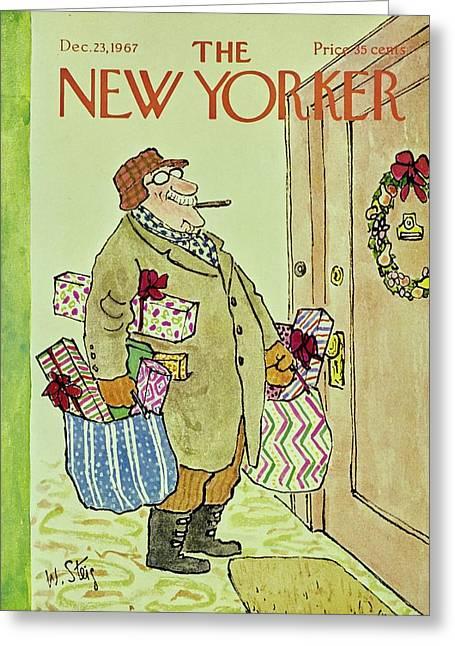 New Yorker December 23rd 1967 Greeting Card