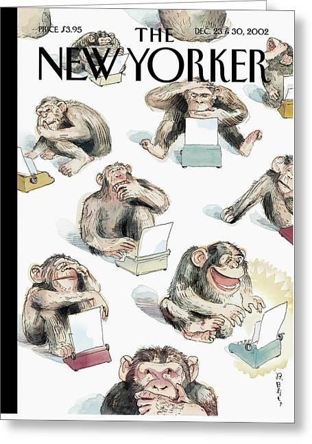 New Yorker December 23rd, 2002 Greeting Card by Barry Blitt