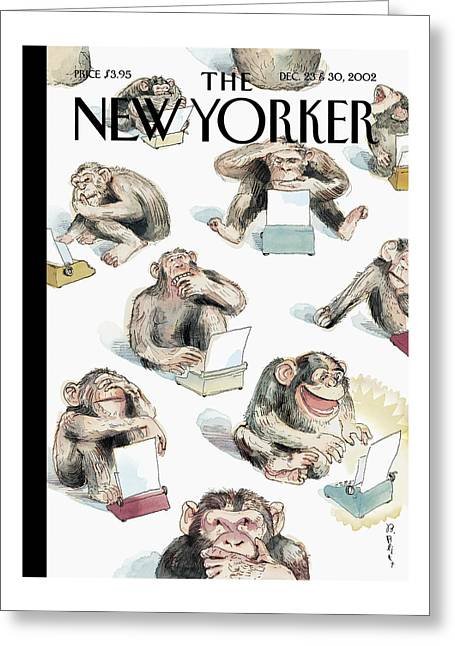 New Yorker December 23rd, 2002 Greeting Card