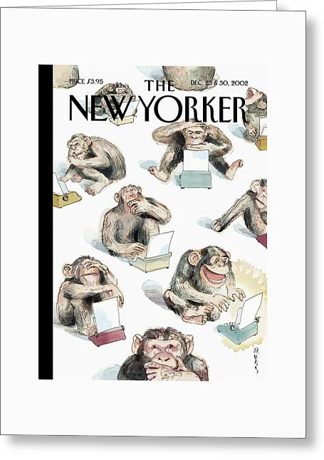 New Yorker December 23rd, 2002 Greeting Card by Barry Blitt