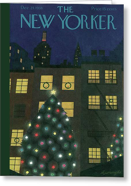 New Yorker December 24th, 1938 Greeting Card