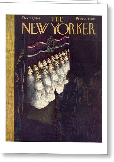 New Yorker December 24th, 1949 Greeting Card
