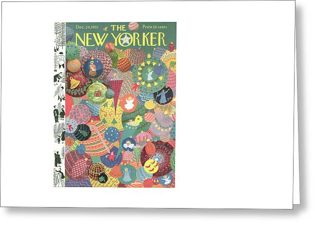 New Yorker December 24th, 1955 Greeting Card by Christina Malman