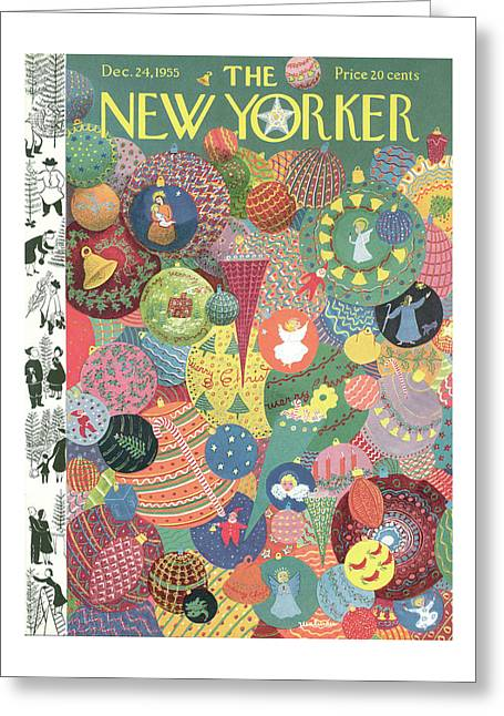 New Yorker December 24th, 1955 Greeting Card