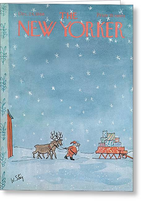New Yorker December 24th, 1966 Greeting Card