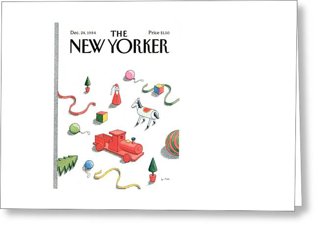 New Yorker December 24th, 1984 Greeting Card by Pierre LeTan