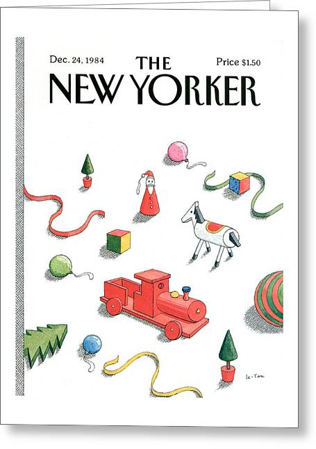 New Yorker December 24th, 1984 Greeting Card