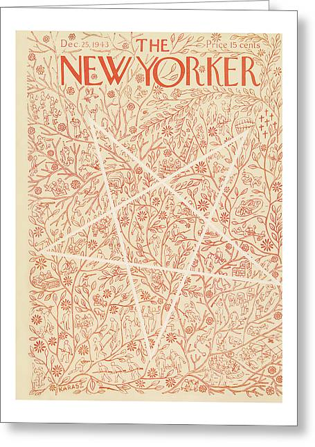 New Yorker December 25th, 1943 Greeting Card