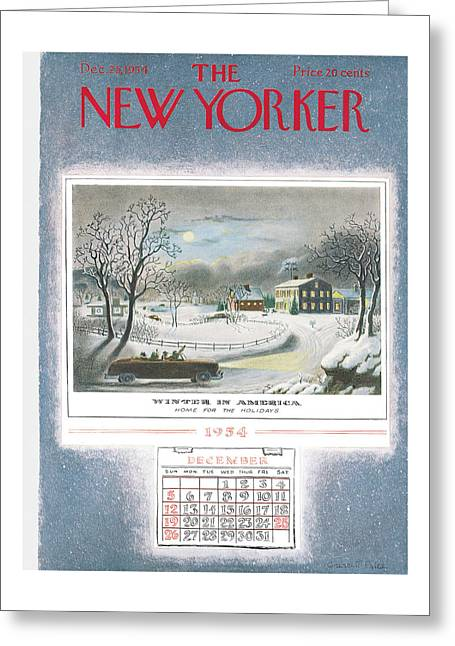 New Yorker December 25th, 1954 Greeting Card
