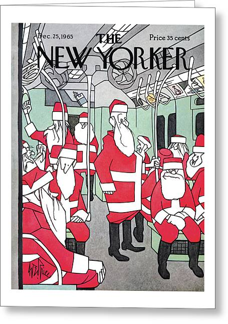 New Yorker December 25th, 1965 Greeting Card