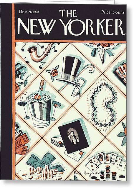 New Yorker December 26 1925 Greeting Card