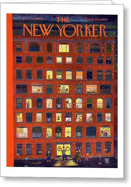 New Yorker December 26, 1953 Greeting Card