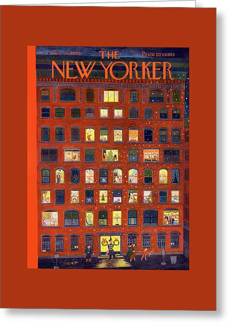 New Yorker December 26th, 1953 Greeting Card by Ilonka Karasz