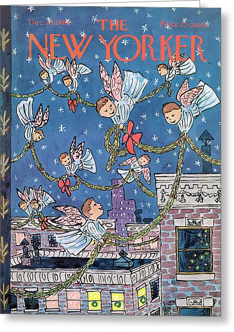 New Yorker December 26th, 1964 Greeting Card by William Steig