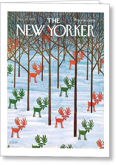 New Yorker December 26th, 1970 Greeting Card
