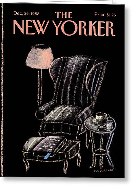 New Yorker December 26th, 1988 Greeting Card by Merle Nacht