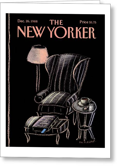 New Yorker December 26th, 1988 Greeting Card
