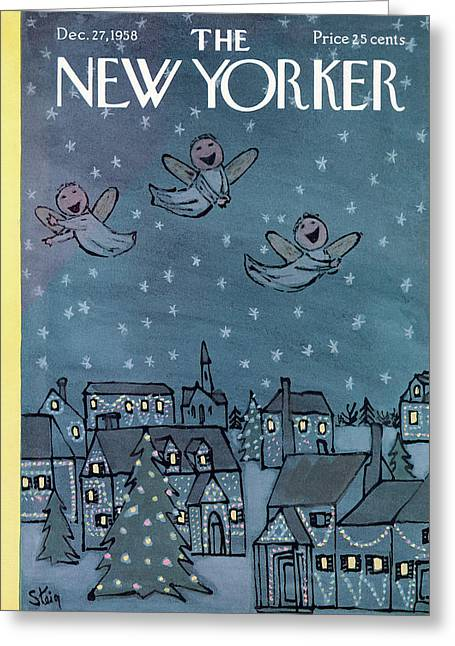 New Yorker December 27th, 1958 Greeting Card
