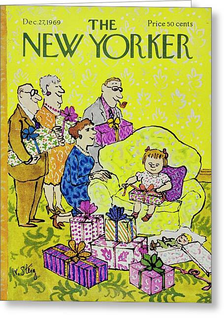 New Yorker December 27th 1969 Greeting Card