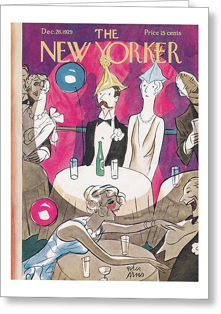 New Yorker December 28th, 1929 Greeting Card