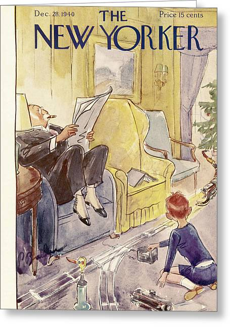 New Yorker December 28th, 1940 Greeting Card