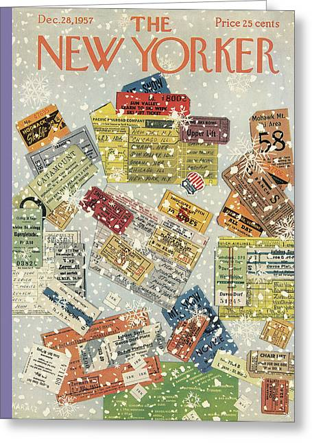 New Yorker December 28th, 1957 Greeting Card