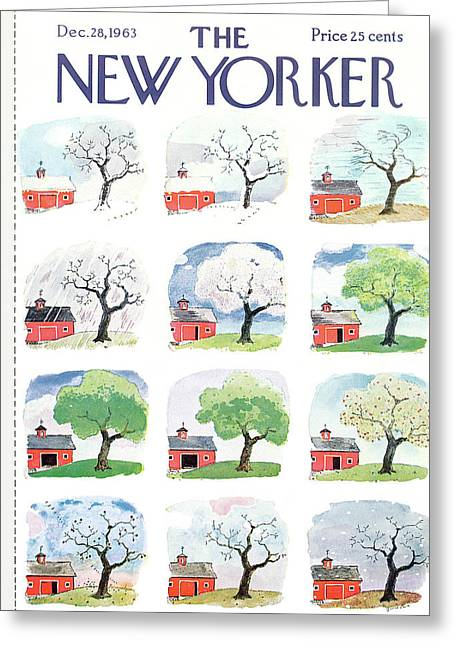 New Yorker December 28th, 1963 Greeting Card