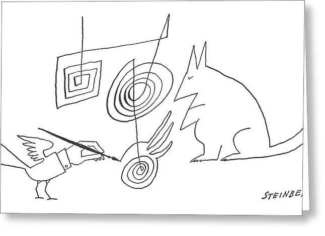 New Yorker December 28th, 1963 Greeting Card by Saul Steinberg